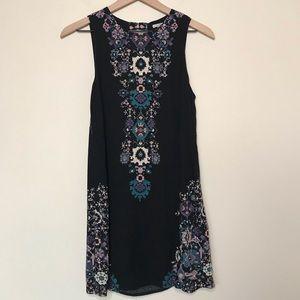 UO Ecote Keyhole Back Mini Dress